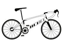 Racing bicycle silhouette Royalty Free Stock Photography