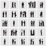 Isolated Silhouettes of Business People Working Royalty Free Stock Photos