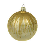 Isolated silver christmastree ornament. Silver christmastree ornament with gold, isolated on white background Royalty Free Stock Photos