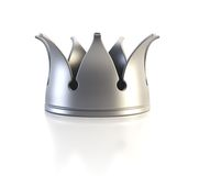 Isolated silver crown Royalty Free Stock Images