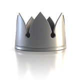 Isolated silver crown Stock Images