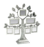 Isolated silver floral tree with leaves and frames Royalty Free Stock Photos