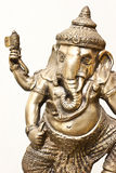 Isolated Silver Ganesha Royalty Free Stock Images