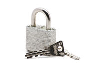 Isolated silver lock stock photography