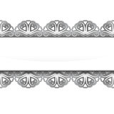 Isolated silver steel lace decorated frame  Stock Photos