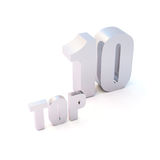 Isolated  silver text Stock Photos