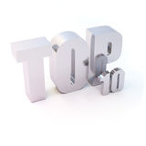 Isolated Silver Text Royalty Free Stock Photography
