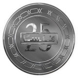 Isolated Silver Twenty Five Fills Illustrated Coin From Bahrain Stock Image