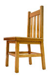 Isolated Simple Chair. Isolated Image Of A Simple Kitchen Wooden Pine Chair Stock Photography