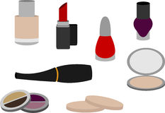Isolated simple cosmetics. Isolated selection of cosmetics on white background Stock Images