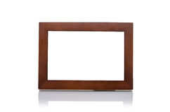 Isolated simple wooden frame Royalty Free Stock Image