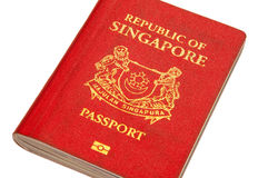 Isolated Singapore Passport Stock Image