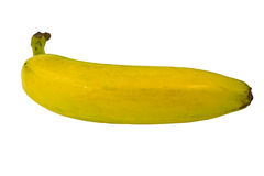 Isolated Single Banana Fruit Royalty Free Stock Photos