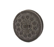 Isolated Single Cookie Royalty Free Stock Photo