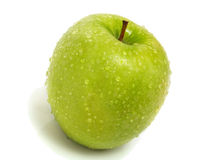 Isolated Single Fresh Green Apple Stock Images