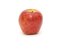 Isolated single simple red apple on white background. Healthy fruit Stock Images