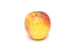 Isolated single simple red apple on white background. Healthy fruit Royalty Free Stock Images