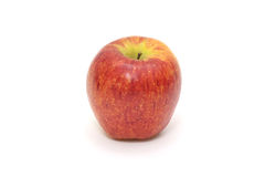 Isolated single simple red apple on white background. Healthy fruit Stock Image
