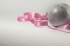 Isolated Siver Christmas Balls Stock Photo