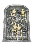 Isolated Skeletons on headstone Royalty Free Stock Images