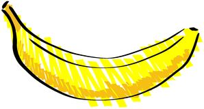 Isolated sketch of a banana Royalty Free Stock Photo