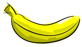 Isolated sketch of a banana Royalty Free Stock Photography