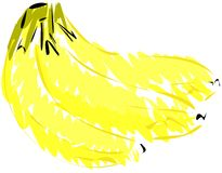 Isolated sketch of bananas Stock Photo