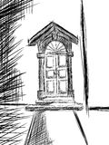 Isolated sketch of a doorway Stock Photo