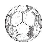 Sketch of a soccer ball Stock Photo