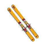 Isolated skis design. Skis icon. Winter sport hobby recreation equipment and activity theme. Isolated design. Vector illustration Royalty Free Stock Image
