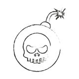 Isolated skull and bomb design Royalty Free Stock Photos