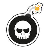 Isolated skull and bomb design Royalty Free Stock Images
