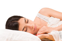 Isolated Sleeping Girl stock images