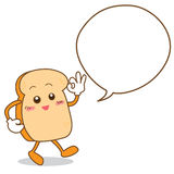 Isolated Slice of bread cartoon Royalty Free Stock Images