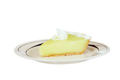Slice of key lime pie Royalty Free Stock Photos