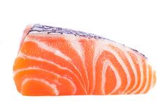 Isolated slice of salmon Stock Photography