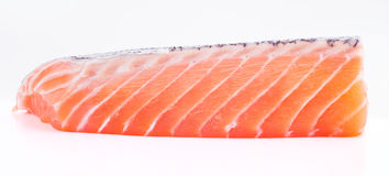 Isolated slice of salmon Royalty Free Stock Images