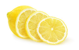 Isolated sliced lemon Stock Image