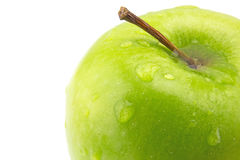 Isolated sliced red and green apple Stock Photography