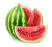 Isolated sliced watermelon royalty free stock image
