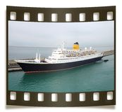 Isolated Slide With Ocean Liner Royalty Free Stock Photo