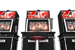 Isolated Slot Machines Stock Photography