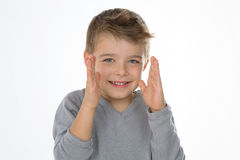 Isolated sly child Royalty Free Stock Image