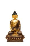 Isolated small Buddha statue on white background Stock Photography