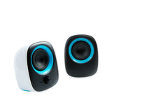 Isolated small loudspeakers Royalty Free Stock Photos