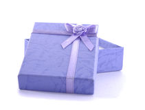 Isolated small present box in white Royalty Free Stock Images