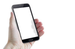 Isolated smart phone hand. Isolated smart phone in hand Royalty Free Stock Images