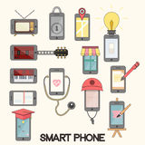 Isolated smartphone functions for life Royalty Free Stock Photo