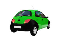 Isolated smarty car back view Royalty Free Stock Photo