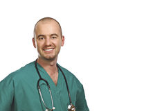 Isolated smiling doctor Stock Images